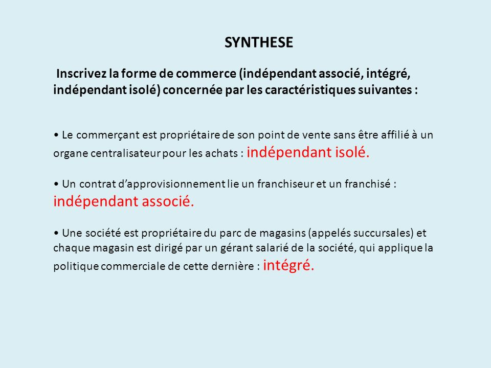 4 types de commerce de commerçant