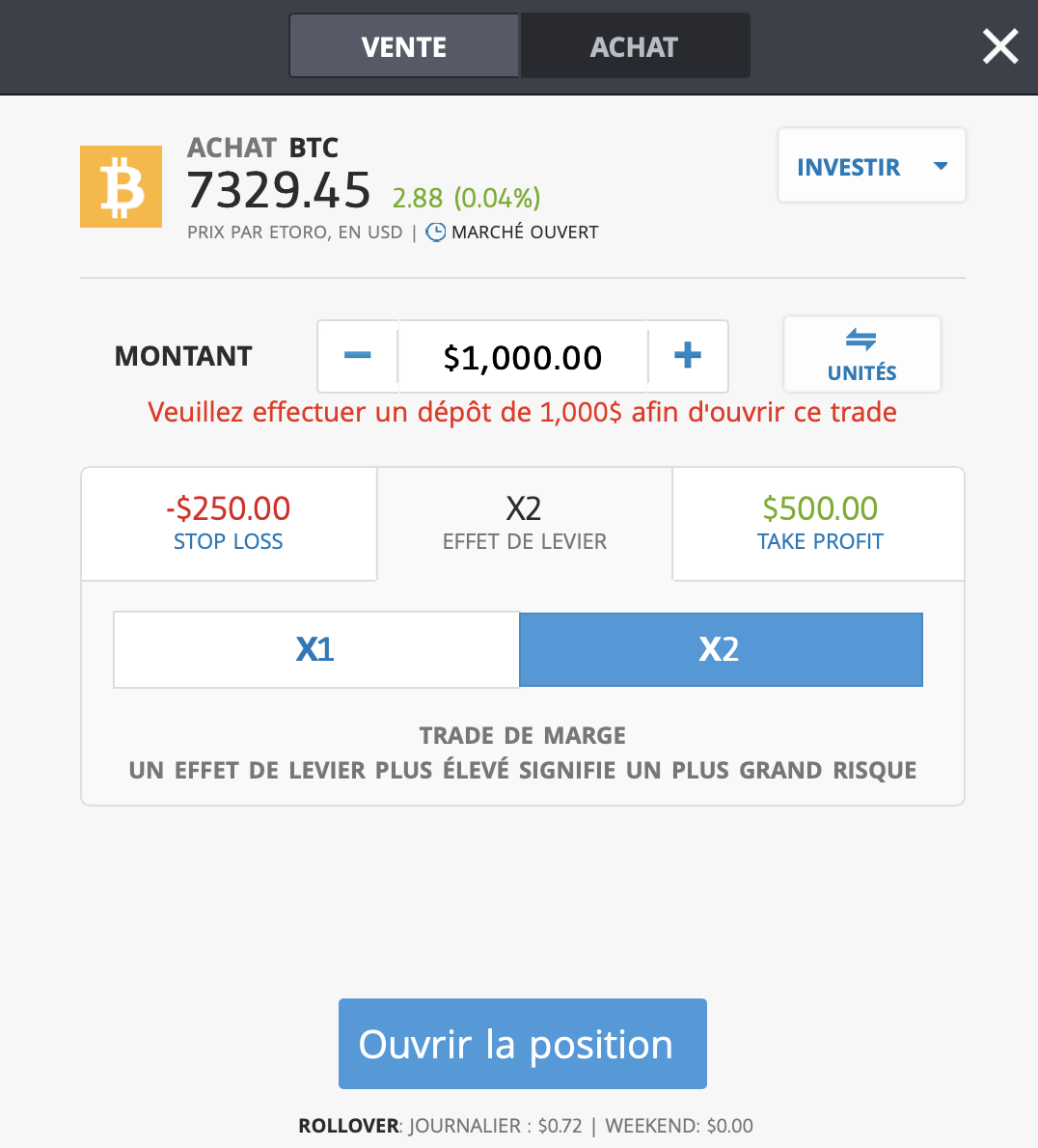 compte dachat de bitcoin local