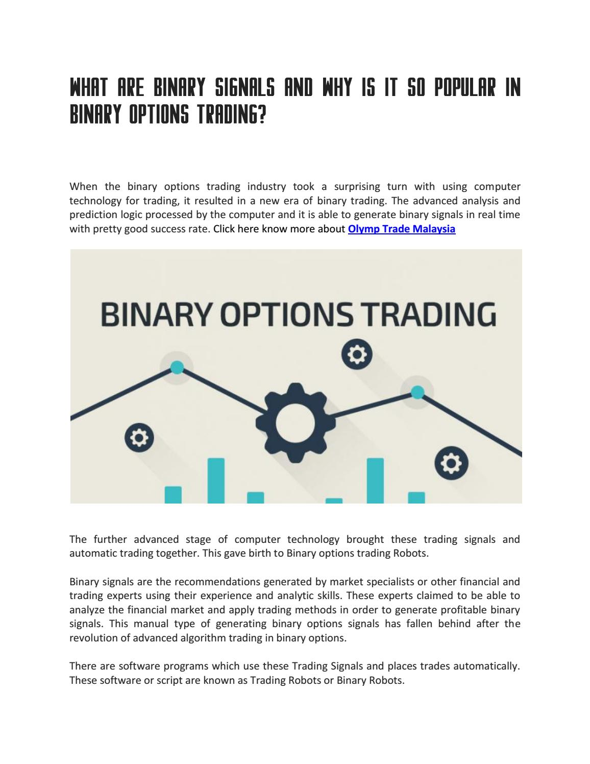 comment trader les options binaires olmp trade