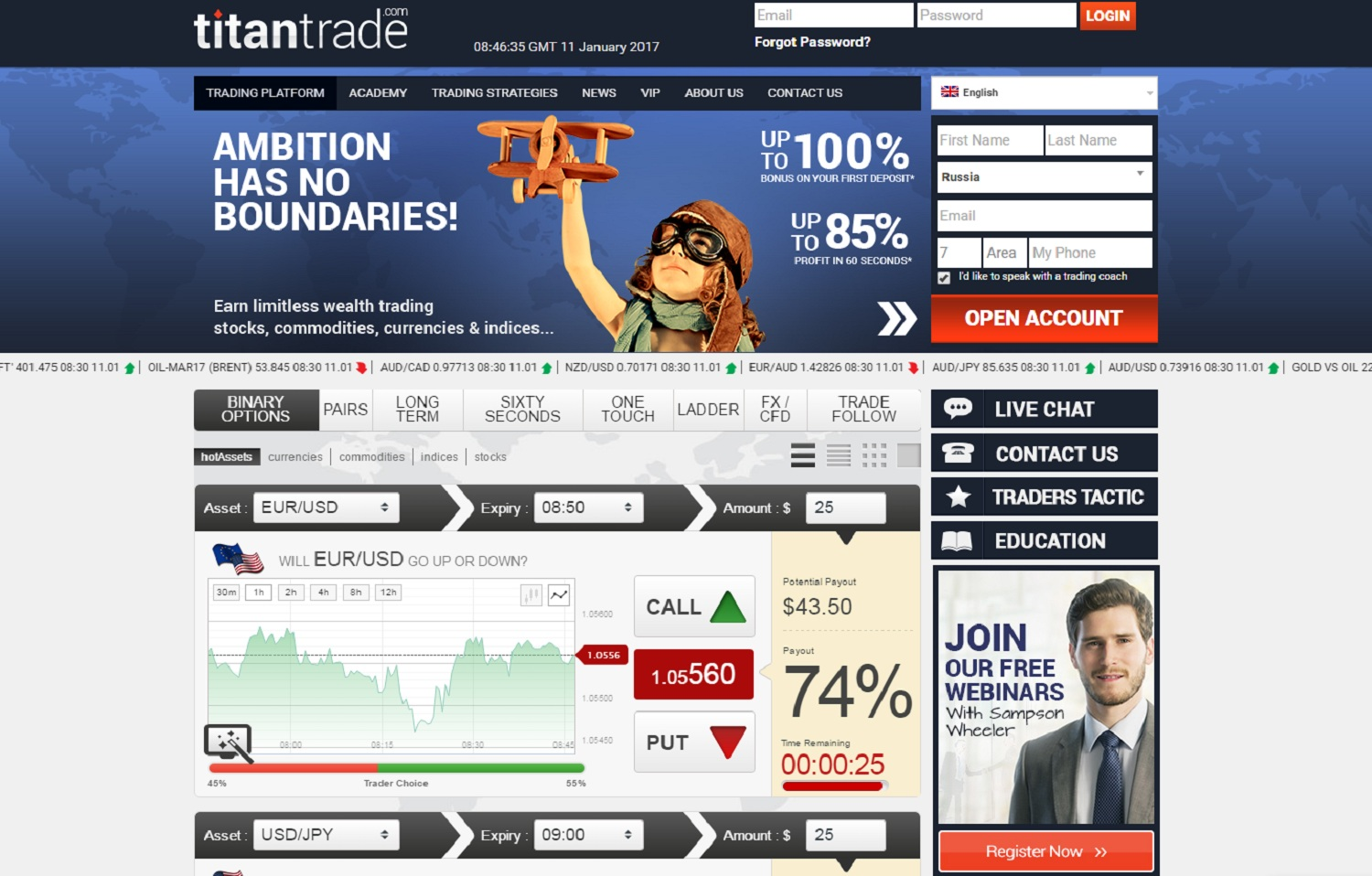 gains en options binaires titantrade secrets