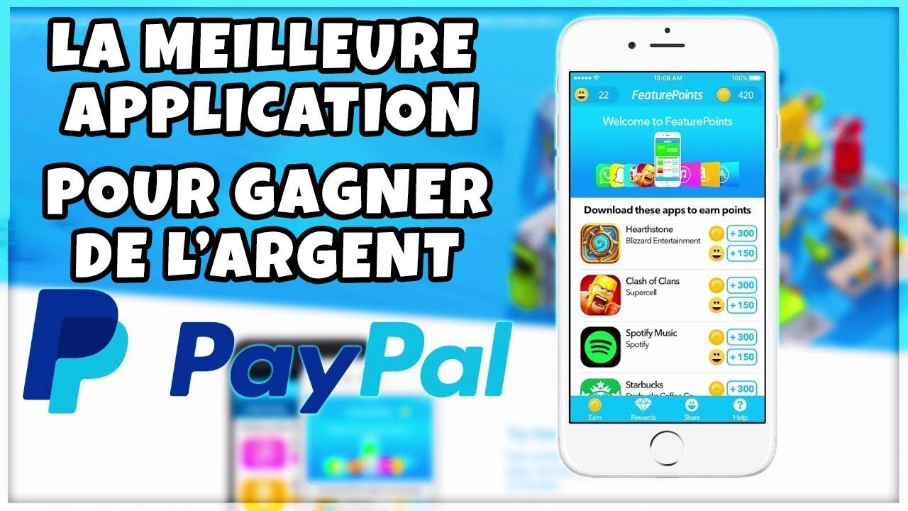 application pour gagner de largent via Internet