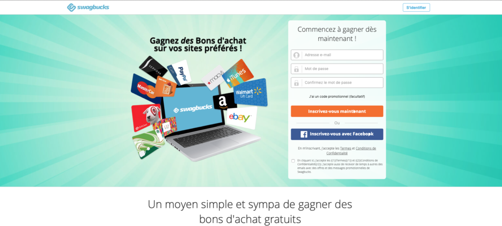 gains possibles sur Internet