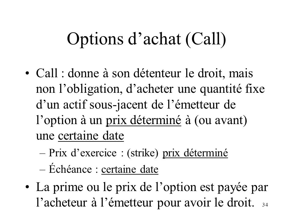 obligation et option de lémetteur