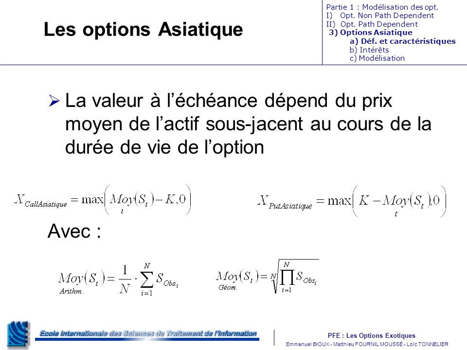 option asiatique binaire)